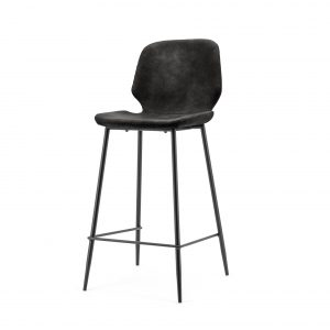 Bar chair Seashell low - black 0897 By Boo